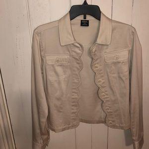 Tribal women's scallop design jacket